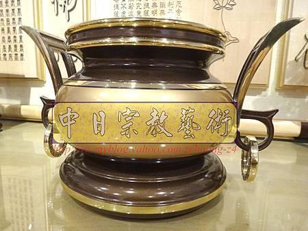 F4115.神桌香爐系列~有耳型神明爐 高級銅器.JPG