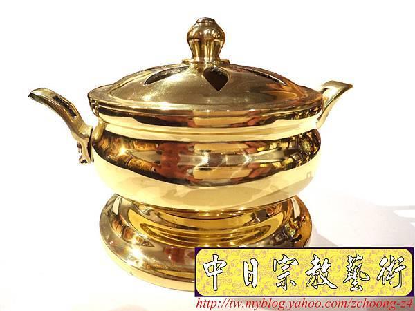 F4302.神桌佛具精品 高級銅器~如意淨香爐.JPG