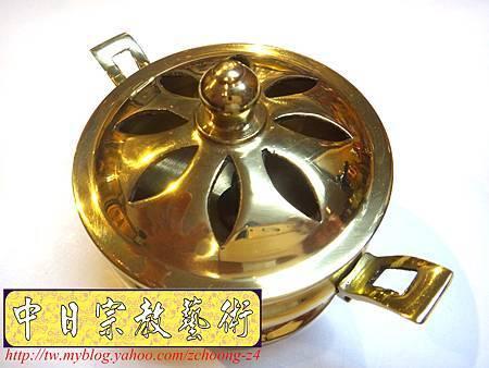 F4307.神桌佛具精品 高級銅器~如意淨香爐.JPG