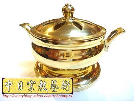 F4312.神桌佛具精品 高級銅器~如意淨香爐.JPG