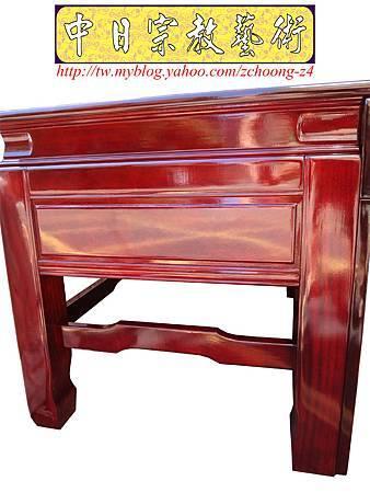 K2411.神桌訂做 土地公廟桌 麒麟雕刻貼金箔製做.JPG