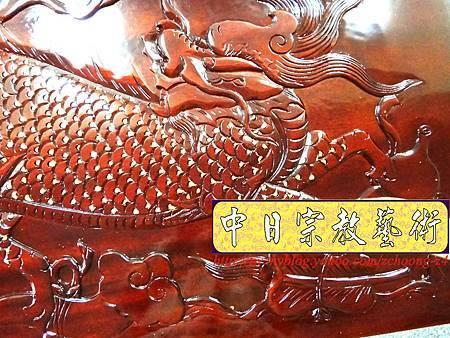 K2419.神桌訂做 土地公廟桌 麒麟雕刻貼金箔製做.JPG