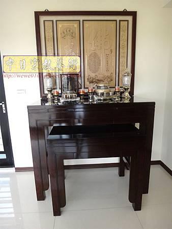 N21101.4尺2神桌製作 日式雞翅木神桌樣式 小佛堂神明廳設計 雷射雕刻神聯佛聯 祖先牌位雕刻.JPG