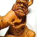L4404.達摩祖師木雕 樟木神桌神像雕刻.JPG