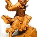 L4406.達摩祖師木雕 樟木神桌神像雕刻.JPG