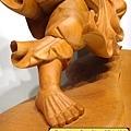 L4407.達摩祖師木雕 樟木神桌神像雕刻.JPG