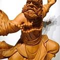 L4413.達摩祖師木雕 樟木神桌神像雕刻.JPG