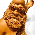 L4414.達摩祖師木雕 樟木神桌神像雕刻.JPG