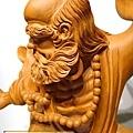L4415.達摩祖師木雕 樟木神桌神像雕刻.JPG