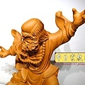L4416.達摩祖師木雕 樟木神桌神像雕刻.JPG