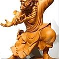 L4417.達摩祖師木雕 樟木神桌神像雕刻.JPG