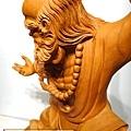 L4419.達摩祖師木雕 樟木神桌神像雕刻.JPG