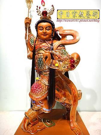 L4502.三太子木雕神像 中壇元帥神桌佛像雕刻.JPG