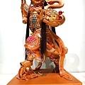 L4506.三太子木雕神像 中壇元帥神桌佛像雕刻.JPG