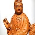 L4603.騬龍觀音木雕神像 站龍觀世音菩薩神桌佛像雕刻.JPG