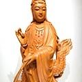 L4606.騬龍觀音木雕神像 站龍觀世音菩薩神桌佛像雕刻.JPG