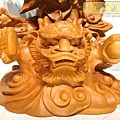 L4706.騬龍觀世音木雕神像 站龍觀世音菩薩神桌佛像雕刻.JPG