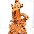 L4708.騬龍觀世音木雕神像 站龍觀世音菩薩神桌佛像雕刻.JPG