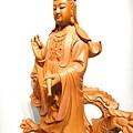 L4711.騬龍觀世音木雕神像 站龍觀世音菩薩神桌佛像雕刻.JPG