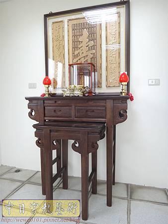 N22101.3尺6祖先桌神桌佛桌 實木雕刻百壽祖先聯 花梨木祖先牌位雕刻.JPG