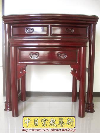 M13201.公寓小神桌 3尺6圓腳佛桌.JPG