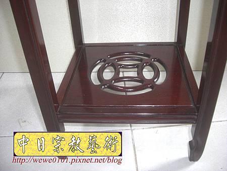 M13405.神桌旁花架花台 紅木花檯.JPG