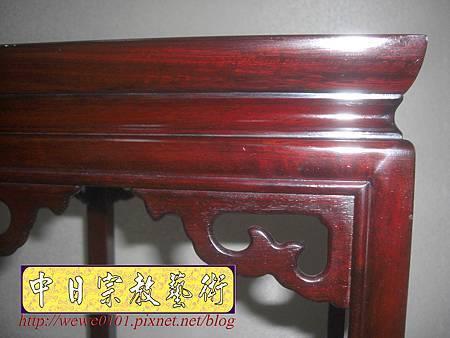 M13407.神桌旁花架花台 紅木花檯.JPG