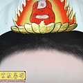C8008.神桌手繪觀音彩 佛桌聯 觀世音菩薩3尊版.JPG