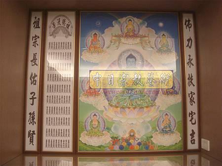 C8301.現代佛櫥佛聯 藏傳佛教唐卡製作.JPG