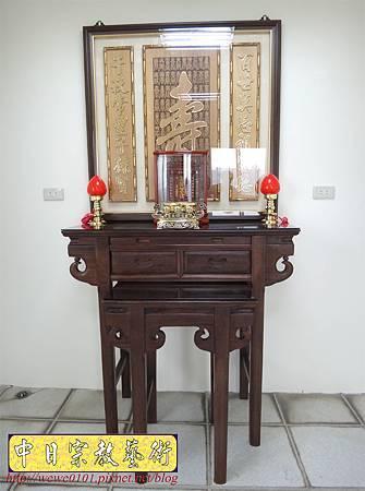 E8601.3尺6祖先桌公媽桌 壽字百壽祖先龕公媽龕.JPG