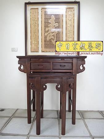 E8603.3尺6祖先桌公媽桌 壽字百壽祖先龕公媽龕.JPG