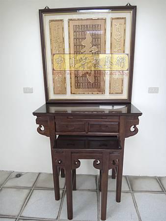 E8609.3尺6祖先桌公媽桌 壽字百壽祖先龕公媽龕.JPG