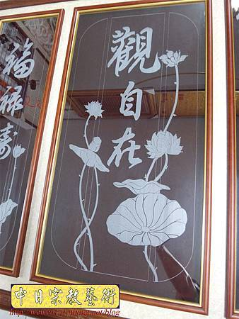 G3002.時尚神桌佛桌聯設計 雷射雕刻玻璃神聯佛聯.JPG
