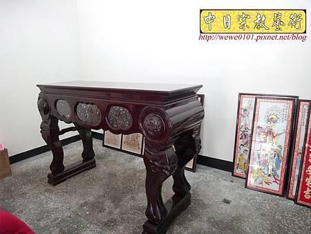 A7602.西方三聖木雕製作 佛桌佛掛佛聯 阿彌陀佛 觀音菩薩 大勢至菩薩.JPG