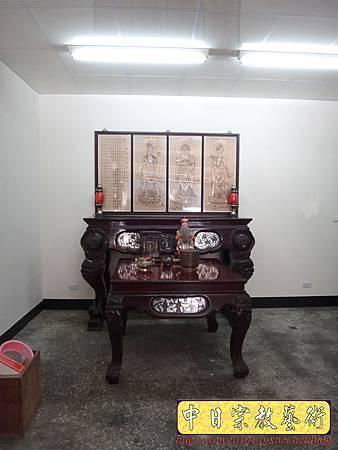 A7610.西方三聖木雕製作 佛桌佛掛佛聯 阿彌陀佛 觀音菩薩 大勢至菩薩.JPG