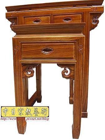 M14301.佛堂小神桌樣示 2尺9柚木佛桌製做.JPG