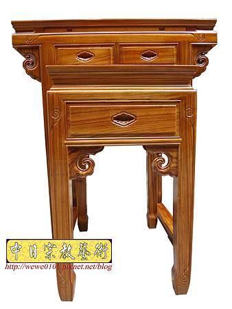 M14302.佛堂小神桌樣示 2尺9柚木佛桌製做.JPG