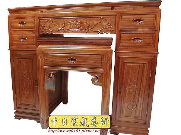 M14601.柚木神桌 箱櫃式佛桌 4尺2上下桌.JPG