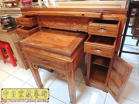 M14603.柚木神桌 箱櫃式佛桌 4尺2上下桌.JPG