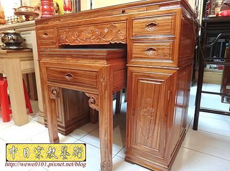 M14605.柚木神桌 箱櫃式佛桌 4尺2上下桌.JPG