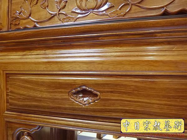 M14607.柚木神桌 箱櫃式佛桌 4尺2上下桌.JPG
