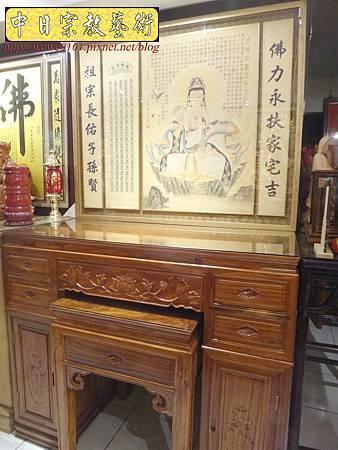 M14614.柚木神桌 箱櫃式佛桌 4尺2上下桌.JPG