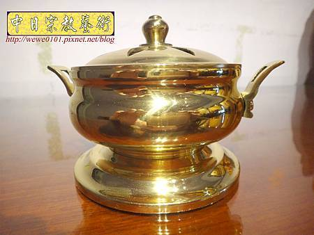 F4701..素面淨香爐 淨爐 神桌香爐銅器.JPG