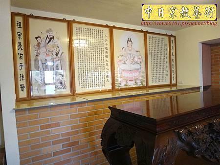 N24502.祭祀公會的大尺寸神桌 刻龍深雕 觀世音菩薩神明彩.JPG
