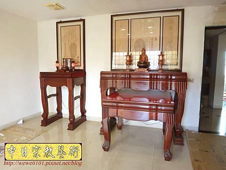 N25701.神桌與公媽桌分開的神明廳 五尺一佛桌搭二尺七祖先桌.JPG