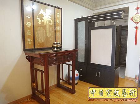 N26102.三尺六佛堂設計 明式佛桌 木雕心經金箔佛字.JPG