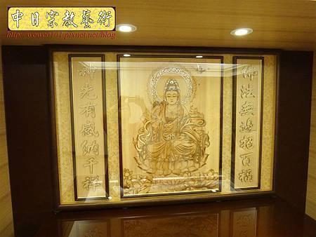 N26602.系統櫃式神桌佛桌 觀世音菩薩木雕神明聯神龕.JPG