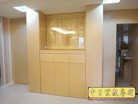 N27502.系統櫃式神櫥佛櫥 神龕佛龕製作 觀自在心經木雕佛聯佛掛.JPG