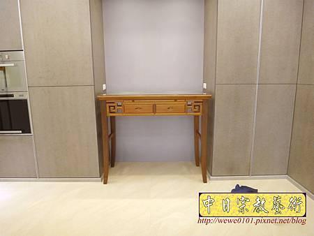M15002.系統櫃佛堂設計 神桌空間 彎角四尺二柚木神桌.JPG