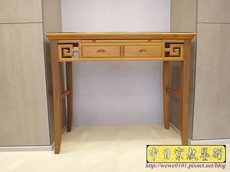 M15005.系統櫃佛堂設計 神桌空間 彎角四尺二柚木神桌.JPG